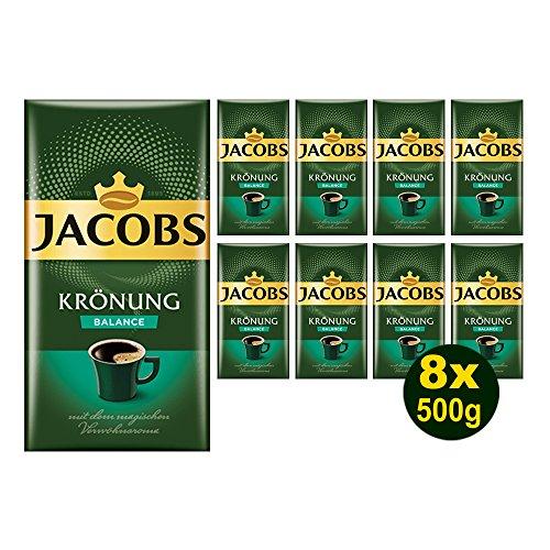 Jacobs KRÖNUNG BALANCE gemahlen 8x 500g (4000g) - Jacobs Filterkaffee, Kaffee