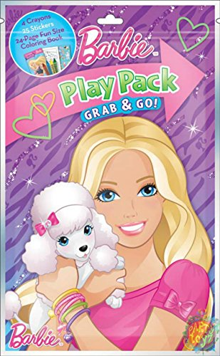 Play Pack Grab & Go! Mini Set~ Barbie ~ Posh Pets ~ Crayons ~ Stickers ~ Coloring Book