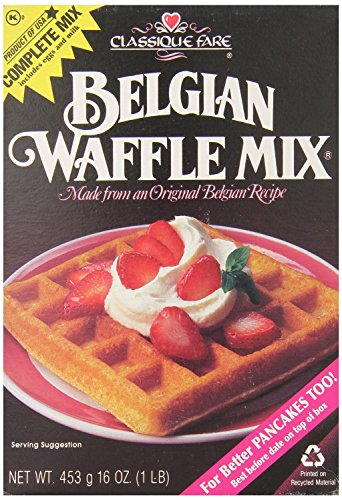 Classique Fare Belgian Waffle Mix 16oz (Pack of 3)