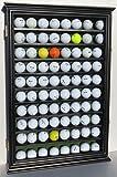 80 Novelty Fan Shop Golf Ball Display Case Holder Wall Cabinet Black Finish