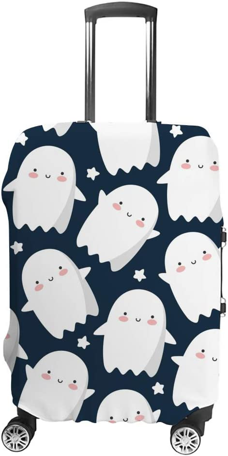 Max 55% OFF ZHONGJI Luggage Cover Cute Many popular brands Ghost Thickened Cartoon Blue White
