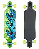 Santa Cruz Screaming Hand Stack drop-through longboard green