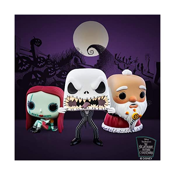 Funko- Pop Disney: The Nightmare Before Christmas-Jack (Scary Face) Figura Coleccionable, Multicolor (48182) 3