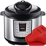 Latest Model Instant Pot Ip-lux60-enw Stainless Steel 6-in-1 Pressure Cooker with Mini Mitts