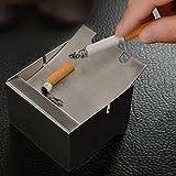 Cenicero Living Home Creative Square Study Smoke Cup Fashion Acero Inoxidable (7.5 * 7.5 * 5cm)