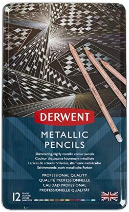 Derwent DE2305599 METALLIC PENCIL TIN MULTI CLRS product image