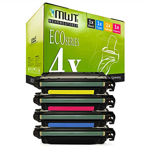4X MWT XXL kompatibel Toner fur HP Color Laserjet CP 3525 X DN N ersetzt CE250X 53A