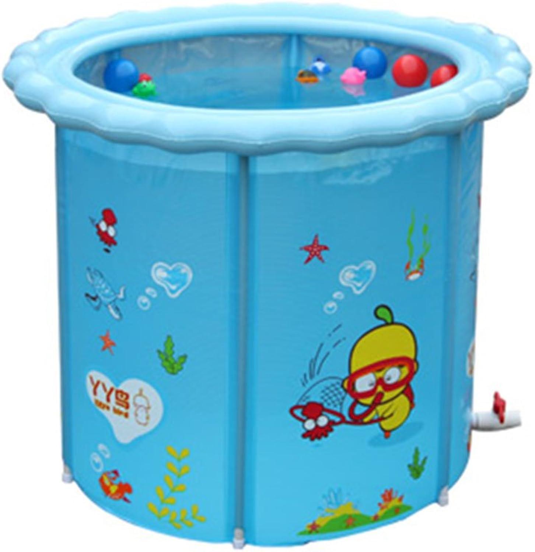 ZHDC Aufblasbare Badewanne, Kinderbecken Babywanne Baby Aufblasbare Badewanne Falten, bequem (gre   110  90cm)