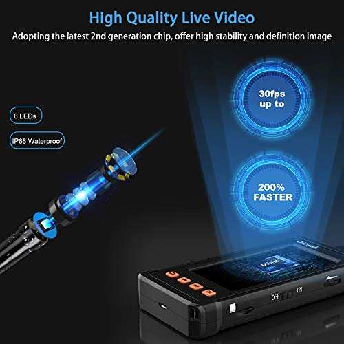 Product Image 6: 50FT Industrial Endoscope for Plumbing Inspection (1080P HD 4.3inch LCD Screen)