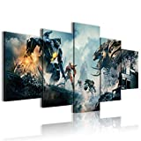 Canvas Printed Poster 5 Pieces Pacific Rim: Uprising Conference Decoration 100x50cm unFramed