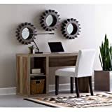 Better Homes and Gardens BH16-084-599-04 Cube Organizer Home Office Desk Made of Medium-Density Fibreboard Wood with Built-in Cable Door on Desktop, Weathered