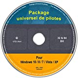 Le CD/DVD Package universel de pilotes pour Windows 10 / 8 / 7 / Vista / XP (32 & 64...