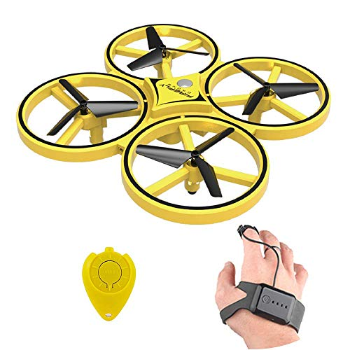 Faironly ZF04 RC Drohne Mini Infrarot Induktion Handsteuerung Drone H?he Halten 2 Controller Quadcopter f¨¹r Kinder Spielzeug Geschenk