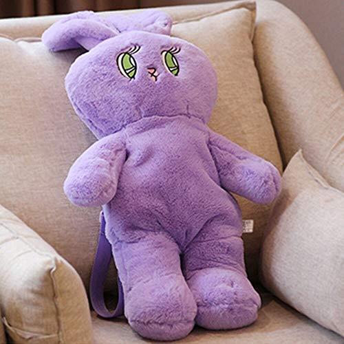 FDRE 1 Simpatico Peluche Zaino Coniglietto Zaino Coniglietto Coniglio Peluche Regalo Borsa da Scuola per Bambini Giocattolo per Bambini Borsa da Scuola Bambina Purple