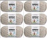 Bernat Blanket Yarn-6/Pk-Baby, 6/Pk, Baby Dove 6 Pack
