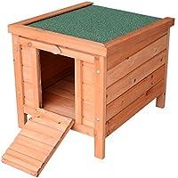 PawHut Conejera Madera de Exterior Jaula para Conejo Cobaya Casa para Animal Pequeño 51x42x43cm