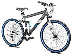 Mountain Bike Men 26 in.Black Shocker Dual Suspension Portable Outdoor Bicycle