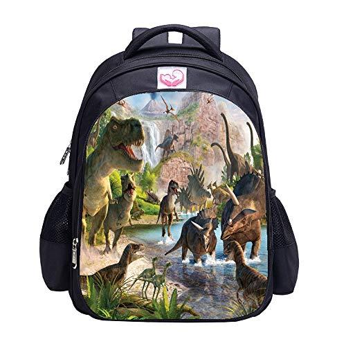 Dinosaur Zaino Matmo Dinosauro Zaini per Ragazzi Zaino Scuola Bambini Bookbag, BEIBAO-LBW-A, Nero, BEIBAO-LBW-A