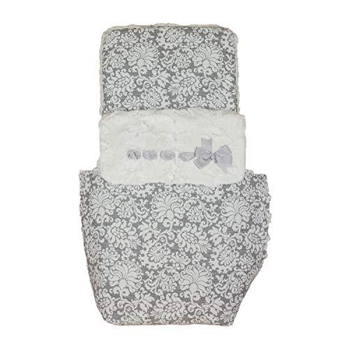Saco de Coche o capazo Universal Rosy, Fabricado en Pelo y Jacquard Gris (50 cm x 84 cm x 11 cm)