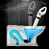 ZENGZHIJIE Dispositivo de Dragado de Aire de Inodoro: Potente Accesorio de Drenaje con 4 Accesorios for Inodoro, bañera, Ducha, Lavabo