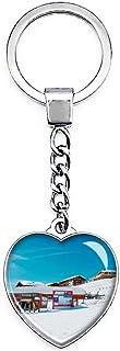 Montvalezan Frankrijk La Rosiere Sleutelhanger Creatieve Dubbelzijdige Hartvormige Crystal Sleutelhanger Reizen Souvenir M...
