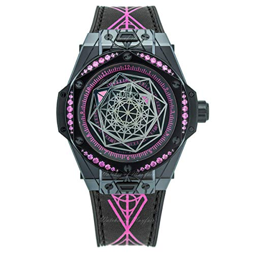 Hublot Big Bang Sang Bleu Todos Negro Rosa Zafiros Mujer Reloj