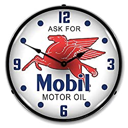Mobil Oil 14 LED Lighted Wall Clock