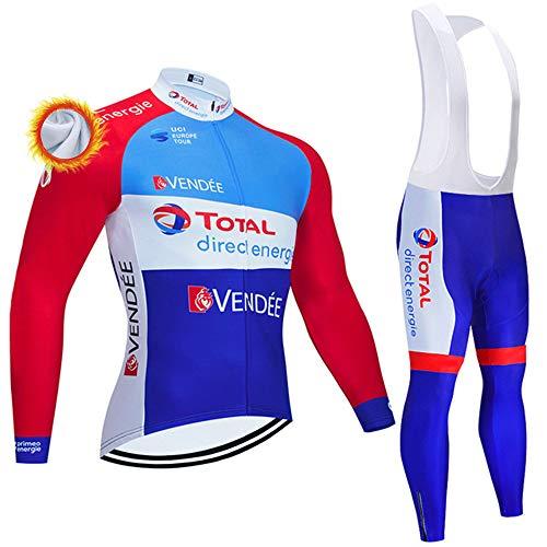 Abbigliamento Ciclismo Uomo Maglia Ciclismo Invernale e Pantaloni 3D Gel Body Ciclismo Completo Ciclismo Uomo Termica (Opzionale)