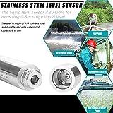 Cikonielf 0 – 5 m, sensore di livello liquido, DC 24 V 4 – 20 mA Trasmettitore di livello liquido in acciaio inox, tipo di inserimento per rilevare la portata di 0 – 5 m
