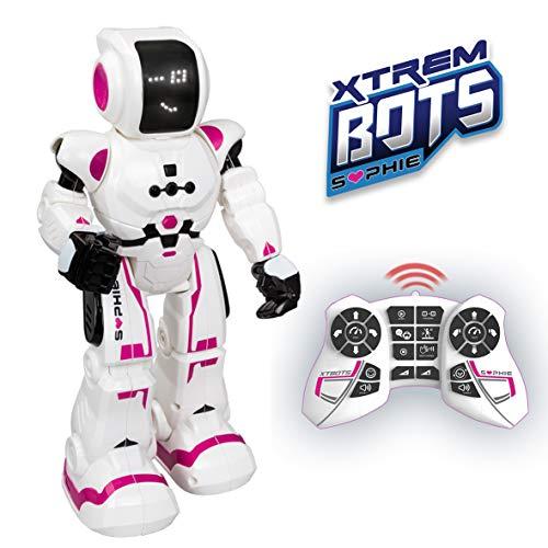 XTREM BOTS- Sophie niños con Sensor de Movimiento, Interactivo Control Remoto programable. Juguetes Robot Inteligente, Color blanco/rosa (XT380838)