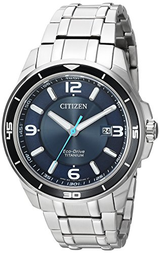 Citizen Men's ' Quartz Titanium Casual Watch, Color:Silver-Toned (Model: BM6929-56L)