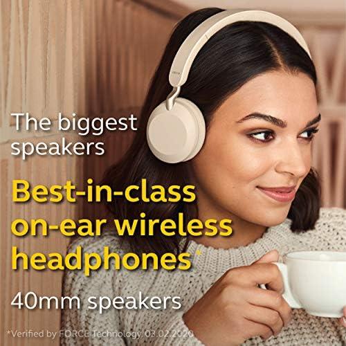 Jabra Elite 45h, Gold Beige – On-Ear Wireless Headphones