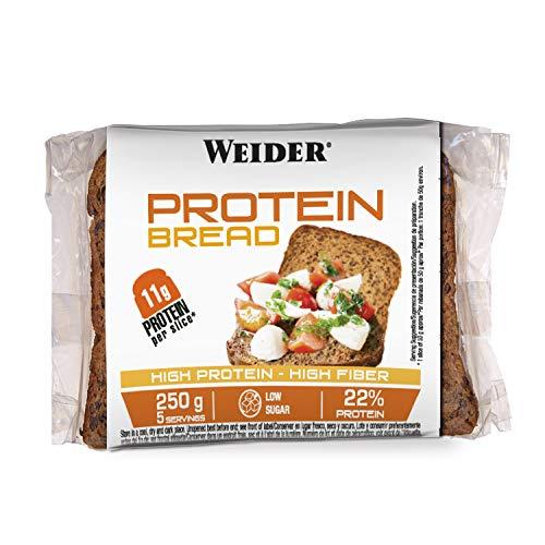 Weider Pan Proteico riquísimo con 11g de proteína. Con mucha fibra y bajo en azúcares (5x250 g)