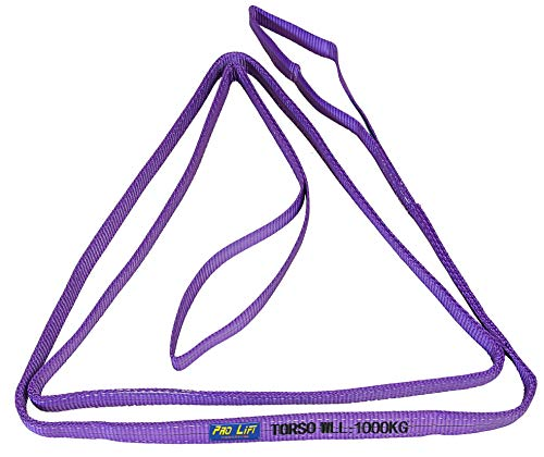 Pro-Lift-Werkzeuge Hebeband 1t mit 2 Schlaufen Länge 4m, 2-lagig Rundschlinge 1000kg Baumgurt Bergegurt Hebeschlinge Abschleppseil