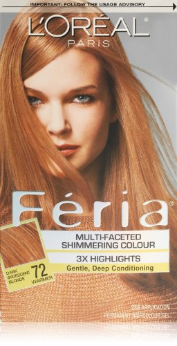 L'Oreal Paris Feria Multi-Faceted Shimmering Color Dark Iridescent Blonde, 72