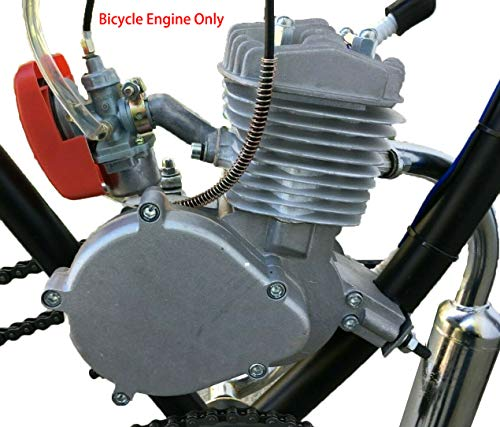 50/66/80cc Bicycle Engine Only, 2 Stroke Engine Motor Kit for Bicycle, Pocket Bike, Mini Dirt Bikes Atvs (Silver)