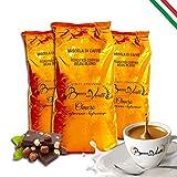 Café Italiano Bocca Della Verità - Café de Grano Tostado Natural OMERO Cualidad Superior - PACK 3 bolsas de 1 Kg