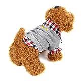 Ropa de MascotasSudaderas Suéter Camisas de Mascotas Gatos Perros 2018 Abrigo Punto Ropa Chaleco Chaqueta para Mascotas (Gris, M)
