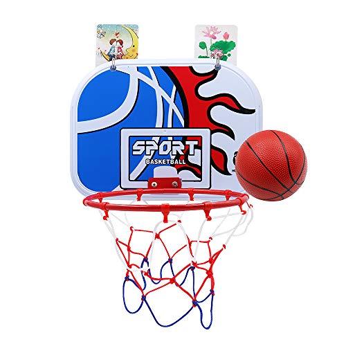 バスケットゴール 子供用 家庭室内·屋外 壁取り付 ミニバスケットボード玩具 ボール付きレジャー ファミリースポーツセット