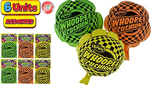 JA-RU Whoopee Cushion Flarp Original Classic Prank Toy 8' (Pack of 6) Gag & Prank Whoopie Toys for Kids and Adult. Farrt Toy Makes Gas Sounds Noise. Great Party Favor Supply. Item #1373-6p