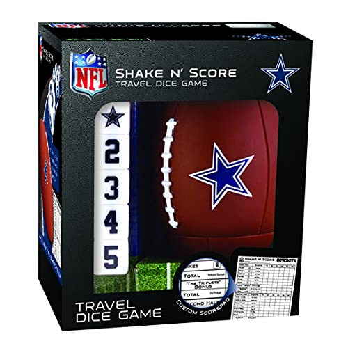 MasterPieces NFL Dallas Cowboys Shake N' Score Travel Dice Game