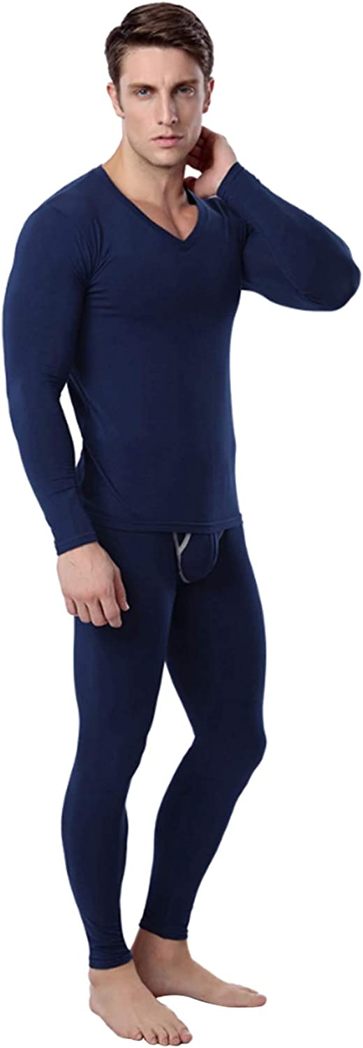 newrong Men's Winter Cotton Thermal Underwear Sets