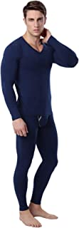 Legou Men's Thermal Top & Long Johns Breathable Underwear Set