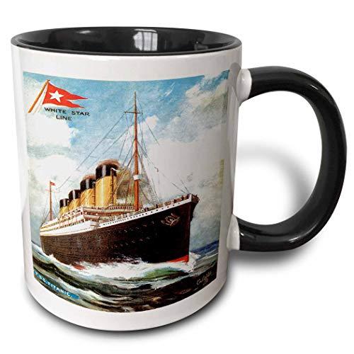 Vintage White Star Line S.S. Titanic Becher, Schwarz