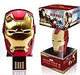 Memorias USB Pen-Drive Memoria Flash Drive Pulgar Unidad Avengers Series Super Heroes Disco Flash USB Regalo Personalizado De Moda Disco U 4 GB A 128 GB (256 GB, Iron Man 3)