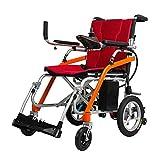ZDW Silla de ruedas Silla de ruedas eléctrica portátil para ancianos Silla de ruedas eléctrica plegable motorizada, con batería de iones de litio de 10 Ah Cargador plegable ligero Silla de ruedas elé