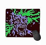 Mauspad Zombie Brains Explode Genre Horror Zombie Brains Explode Genre Horror schrecklich Psychedelic Rechteck Gummi Mousepad 29,5 x 24,1 cm