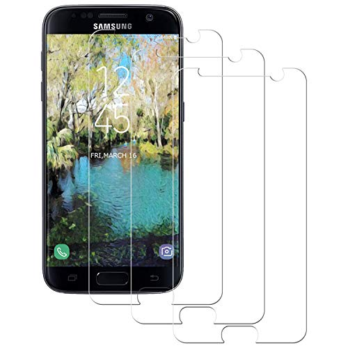 Aspiree 3 Stück Panzerglas Schutzfolie kompatibel mit Samsung Galaxy S7, Gehärtetes Glas Displayschutzfolie mit 9H Härte, HD Ultra Klar, Anti-Kratzen, Anti-Öl, Displayschutz Folie für Galaxy S7