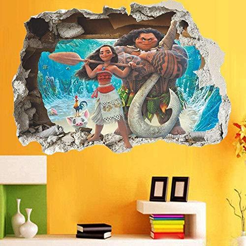 FHMYCSQ 3D tapet klistermärke Se barn tecknad sovrum bakgrund vägg vägg klistermärke