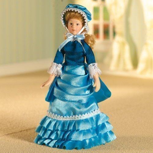 Dolls House 6364 Poupée Bleu Clair Estella Robe 1:12 pour Maison de Poupée